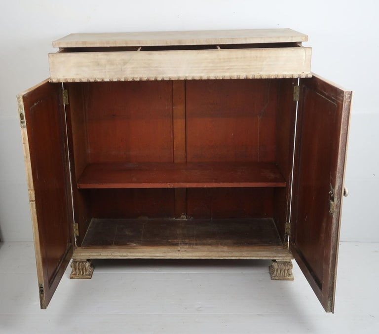 Small Antique Bleached Mahogany Side Cabinet, English, circa 1835 For Sale 3