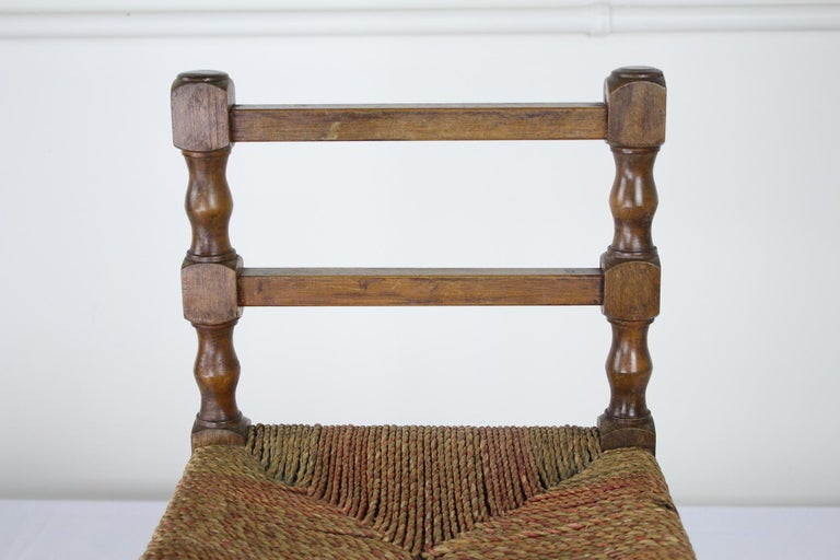 English Small Antique Child's String Rocker For Sale