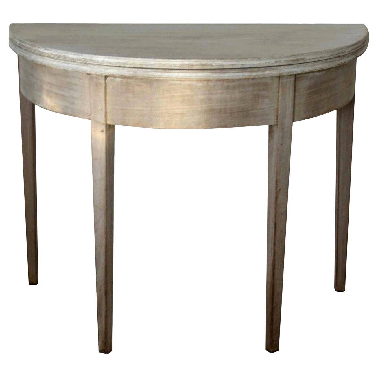 Small Antique Demi-Lune Side Table, circa 1800