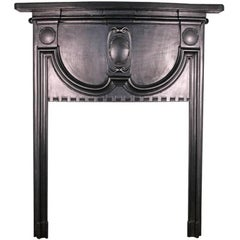 Small Antique Edwardian Cast Iron Fireplace Surround