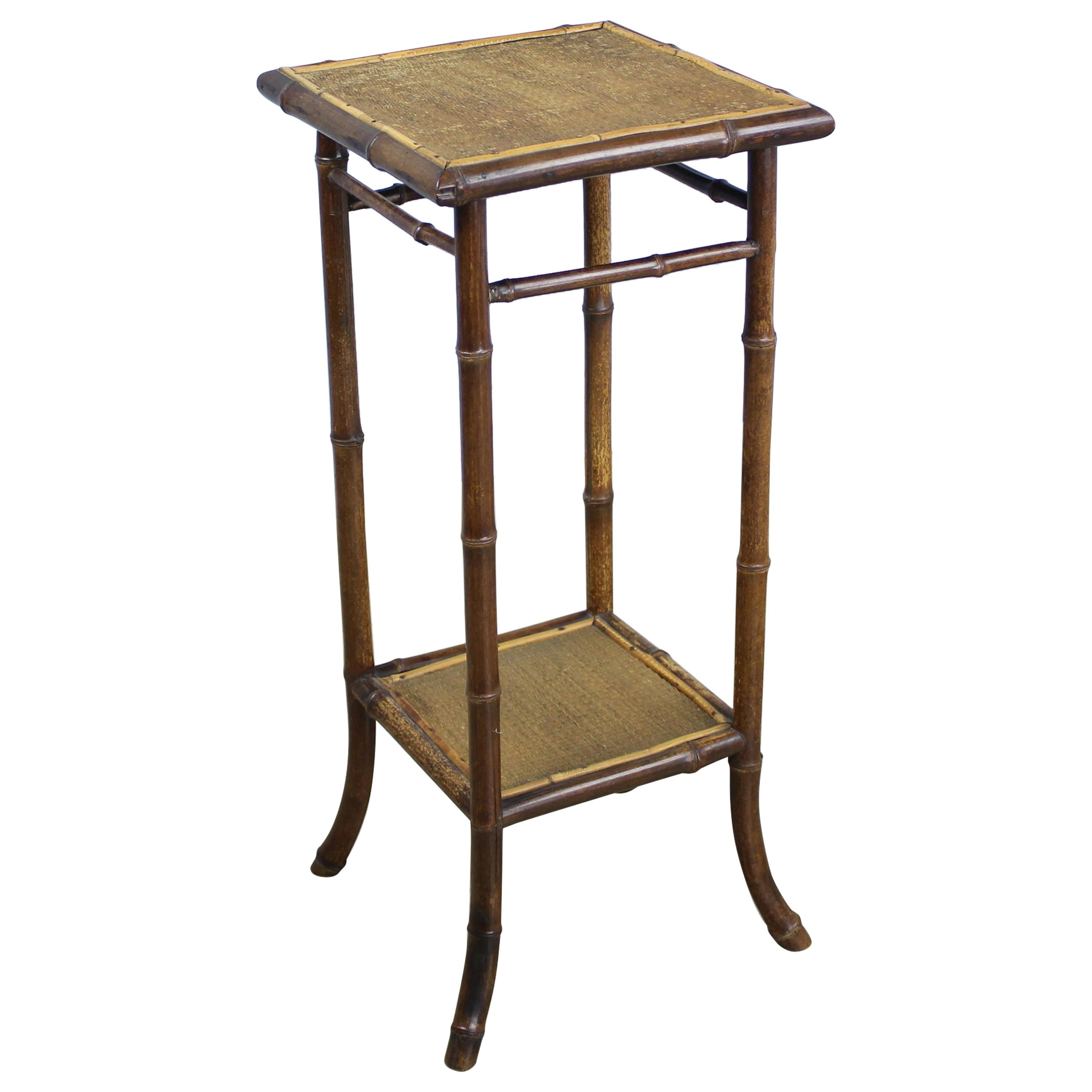 Phenomenal Small Antique English Bamboo Side Table Home Interior And Landscaping Ologienasavecom