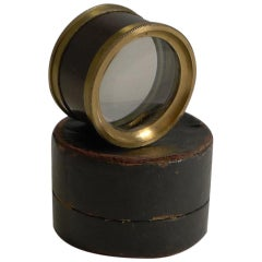 Small Antique English Magnifying Glass / Lens in Box, circa 1850