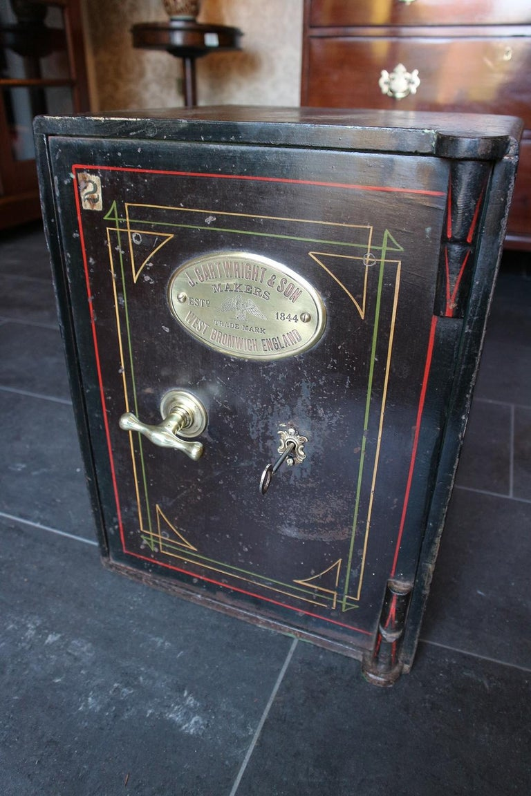 British Small Antique English Safe For Sale