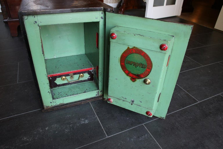 Small Antique English Safe For Sale 2