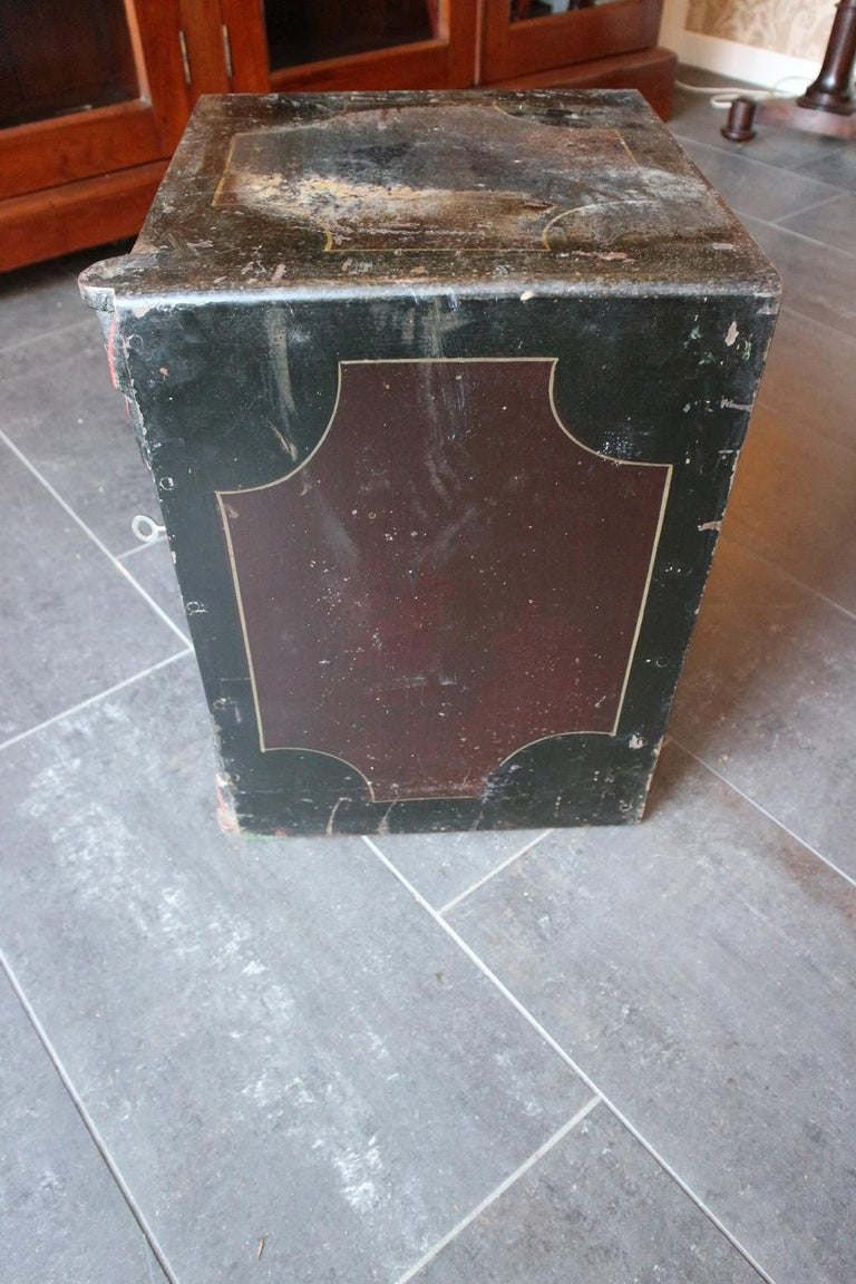 Small Antique English Safe For Sale 4