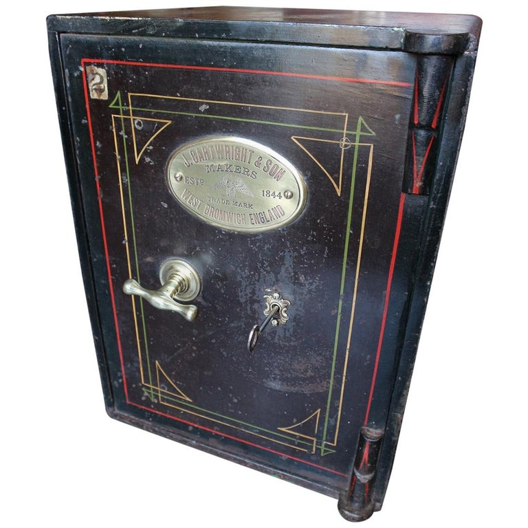 Small Antique English Safe For Sale