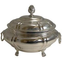 Small Antique English Silver Plated Tureen, circa 1850