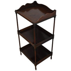 Small antique Georgian period solid mahogany Whatnot / shelves