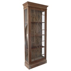 Small Antique Georgian Style Bleached Mahogany Cabinet with Astragal Glazing