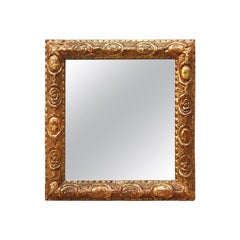 Small Antique Giltwood French Mirror, circa 1780