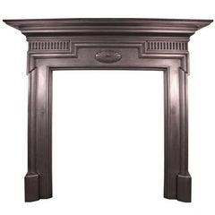 Small Antique Late Victorian Cast Iron Fire Surround