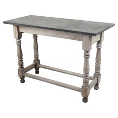 Small Antique Marble Topped Side Table, English, 19th Century