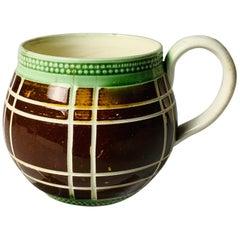 Small Antique Mochaware Cup, Made in England, circa 1825