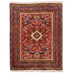 Small Antique Persian Heriz Rug