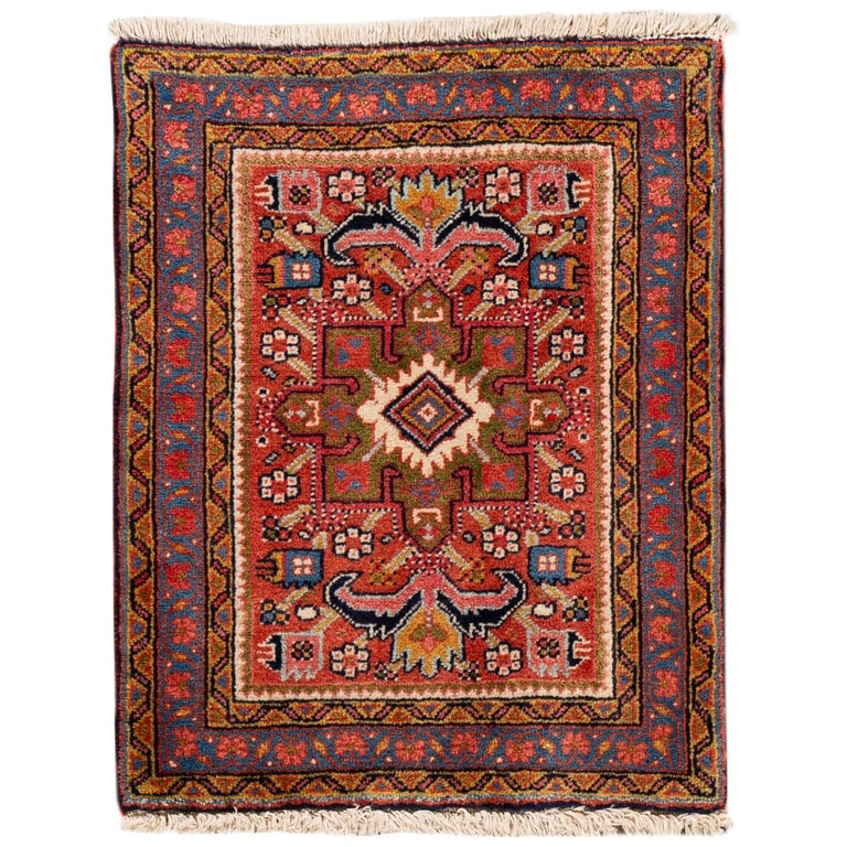 Persian Rugs For Sale: Small Antique Persian Heriz Rug For Sale At 1stdibs