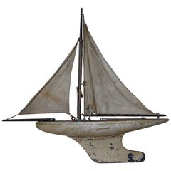 Small Antique Pond Yacht, English, 1920s