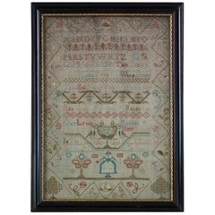 Small Antique Sampler, circa 1770, by Lydia Peakins