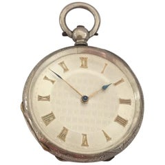 Small Antique Silver Key-Wind Pocket Watch Signed A. Bremer, Geneve, circa 1880s