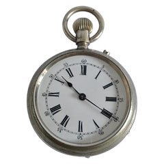 Small Antique Silver Plated Pocket Watch