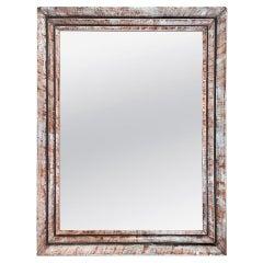 Small Antique Silverwood Mirror with Sepia Patina, circa 1960