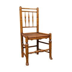 Small Antique Tanner's Chair, English, Ash, Elm, Spindle Back, Seat, Victorian