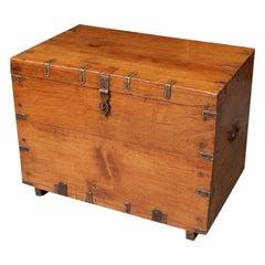 Small Antique Teak Box