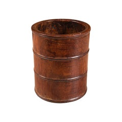 Small Antique Treen, English, Walnut, Artist's Brush Pot, Desk Tidy, Victorian