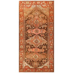 Small Antique Tribal Caucasian Kazak Rug. Size: 4 ft x 8 ft (1.22 m x 2.44 m)