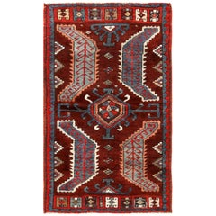Small Antique Turkish Yastic Rug. Size: 2 ft 1 in x 3 ft 3 in (0.63 m x 0.99 m)