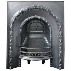 Small Antique Victorian Cast Iron Arched Fireplace Insert