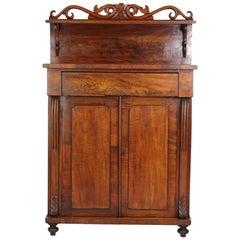 Small Antique Victorian Mahogany Chiffonier Sideboard Credenza Cupboard Dresser