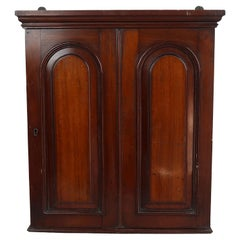 Small Antique Wall Mounted Housekeepers Cupboard, English, c.1860