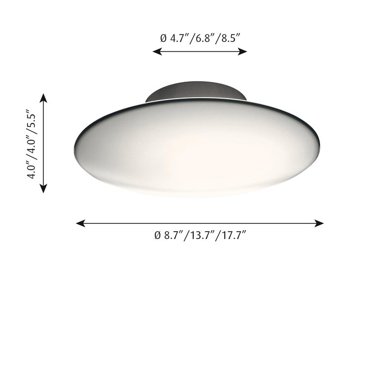 Small Arne Jacobsen 'Eklipta' Wall or Ceiling Light for Louis Poulsen In New Condition For Sale In Glendale, CA