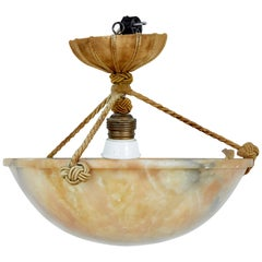 Small Art Deco Alabaster Chandelier