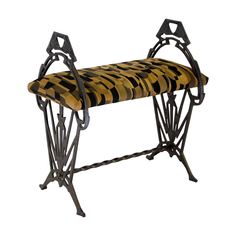 Small Art Deco Iron Bench