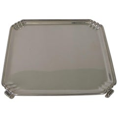 Small Art Deco Silver Plated Salver / Tray by Goldsmith's Silversmith's Co.