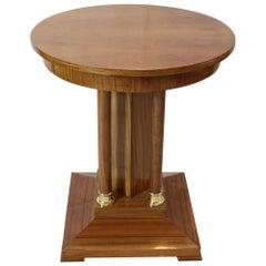 Small Art Nouveau Walnut / Mahogany Side Table