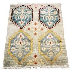 Small Asian Bedside Rug from Afghanistan, Colorful / 328