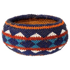 Small Beaded Washoe Basket
