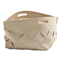 Small Beige 10th Basket by Massimo Castagna