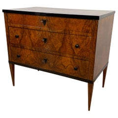Small Biedermeier Commode, Walnut Veneer, Southwest Germany, circa 1820