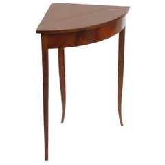 Small Biedermeier Period Corner Table, Mahogany, Germany, Brown Red