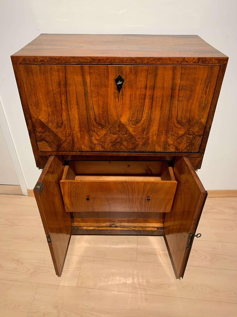 Small Biedermeier Secretaire, Walnut and Ash, Austria/Vienna, circa 1820 For Sale 6