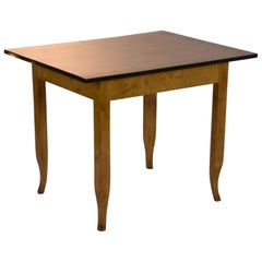 Small Biedermeier Table Birch Wood Hessen, circa 1820