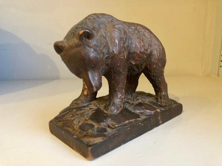Small Black Forrest Carving of a Bear, 19th Century For Sale 2