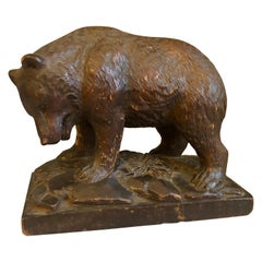 Small Black Forrest Carving of a Bear, 19th Century