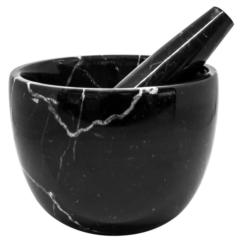 Small Black Marble Mortar and Pestle
