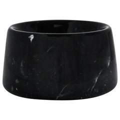 Small Black Marquina Marble Cats and Dogs Bowl