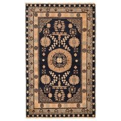 Small Blue Background Antique Khotan Rug