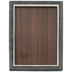 Small Blue/Black Authentic Shagreen Covered Picture Frame